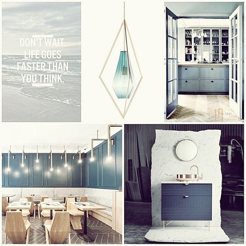Decoración de interiores en azul petróleo y estilo elegante francés por Ana Utrilla