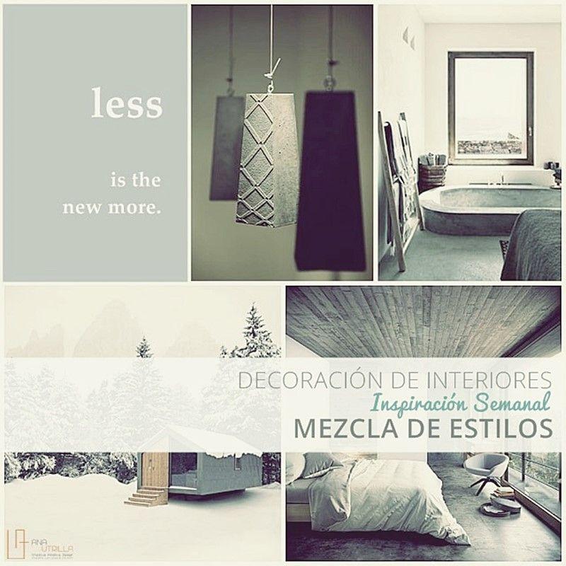 Decora mezclando estilos en tu decoración de interiores por Ana Utrilla