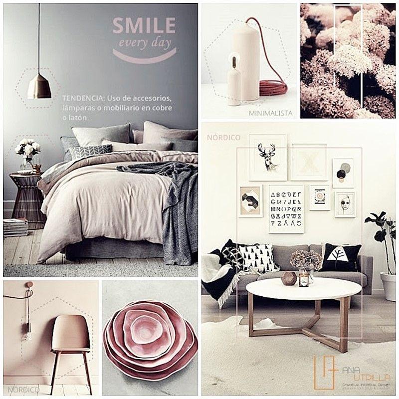 Decora tu espacio favorito con una combinación de grises y rosas por Ana Utrilla diseño de interiores