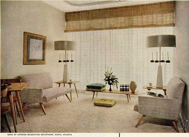 Salón años 50 de estilo nórdico