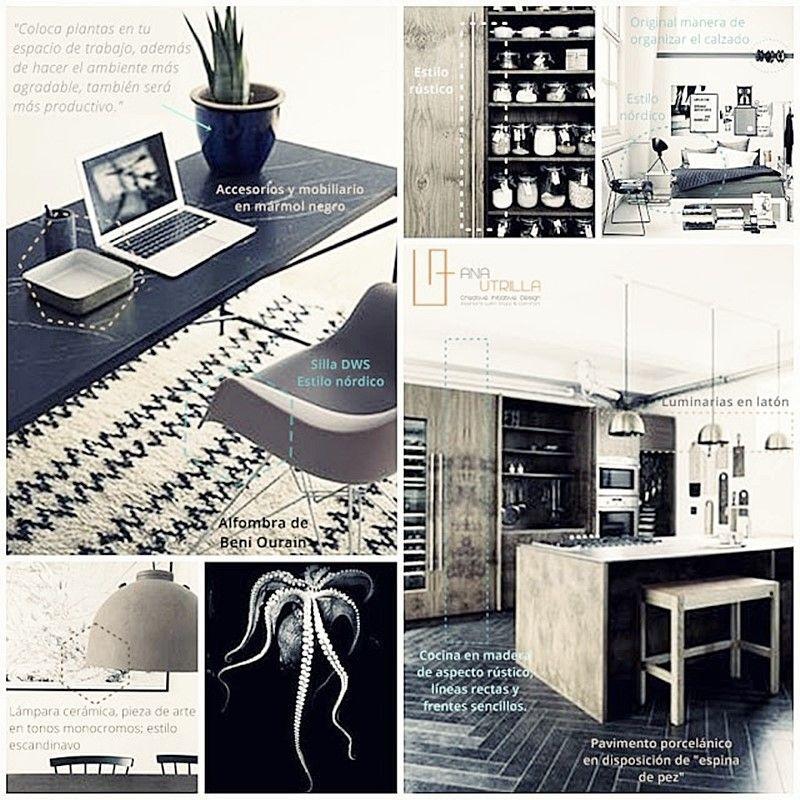 Espacios del hogar y del trabajo de estilo ecléctico nórdico o rústico