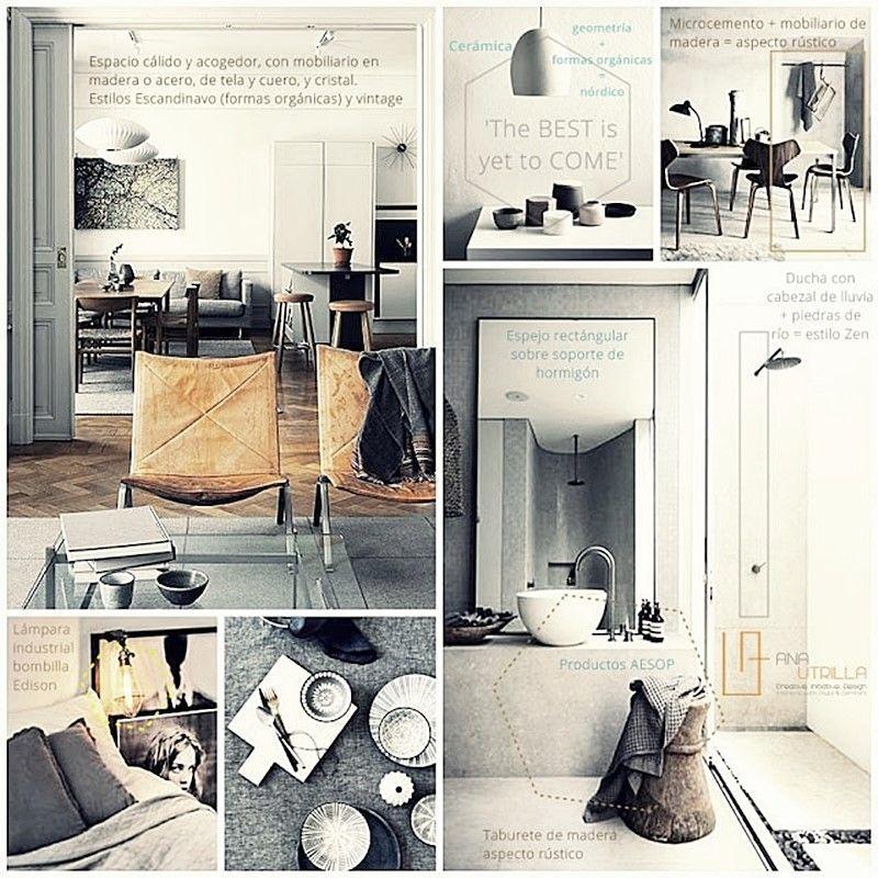 Decoración de interiores de estilo nórdico rústico o vintage para tu hogar o espacio de trabajo
