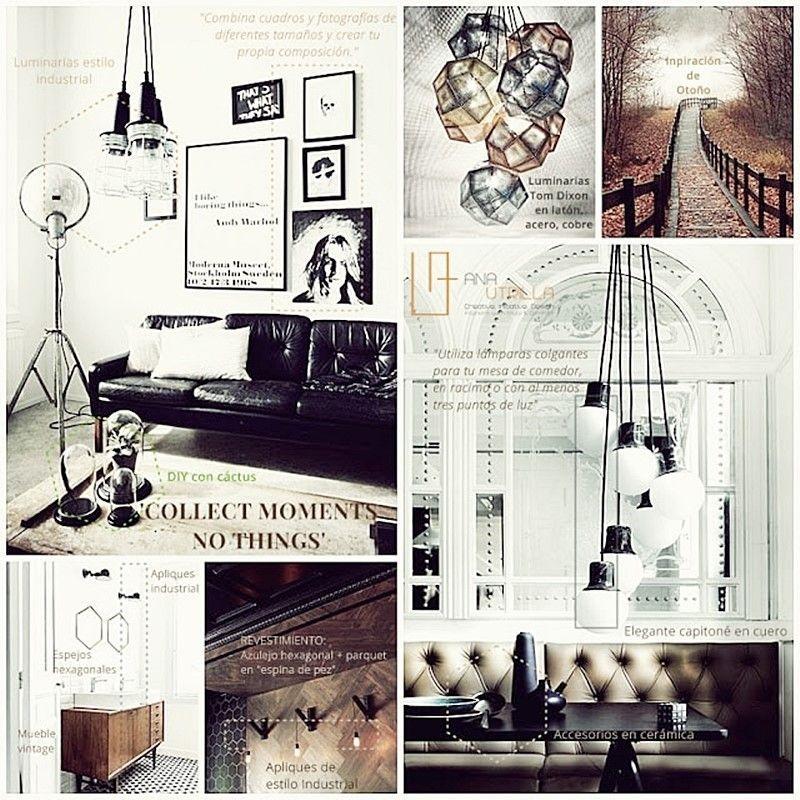 Espacios decorados con estilos rústico nórdico o vintage por Ana Utrilla