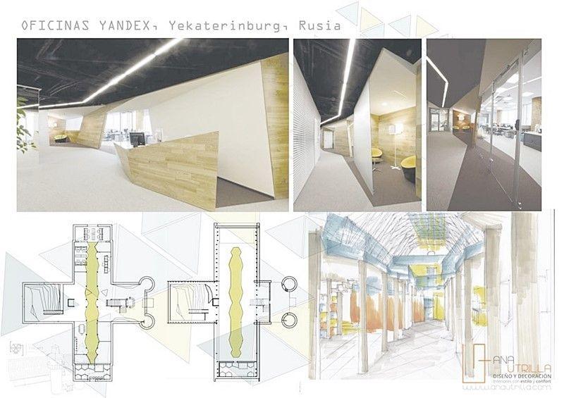 INvestigación de ideas y referencias para proyecto de diseño de interiores espacio coworking