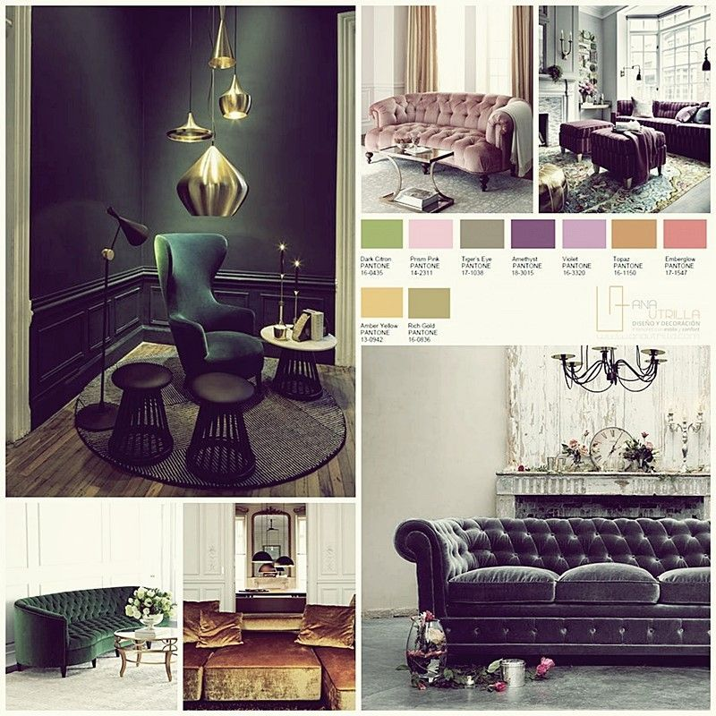 Decoración de interiores colores joya pantone 2016