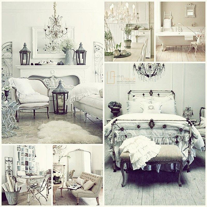 Dormitorios con estilo shabby chic y estilo francés, por Ana Utrilla Diseño de Interiores Online