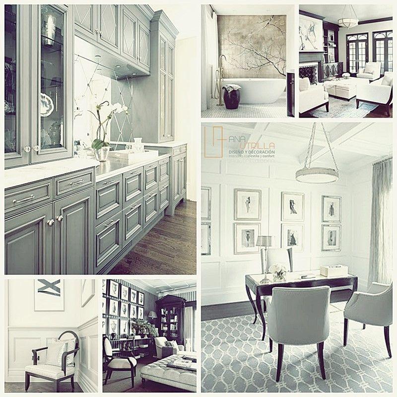 Ambientes de estilo clásico contemporáneo, por Ana Utrilla Diseño de Interiores Online