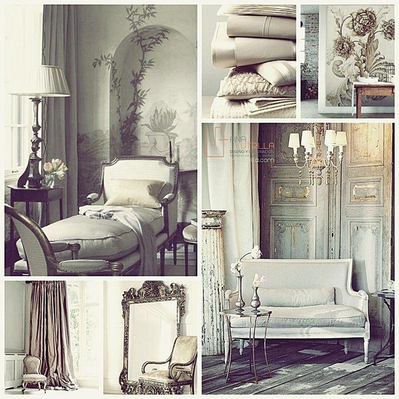 Espacios de estilo clásico decorados con mobiliario de estilo francés por Ana Utrilla Diseño de Interiores Online