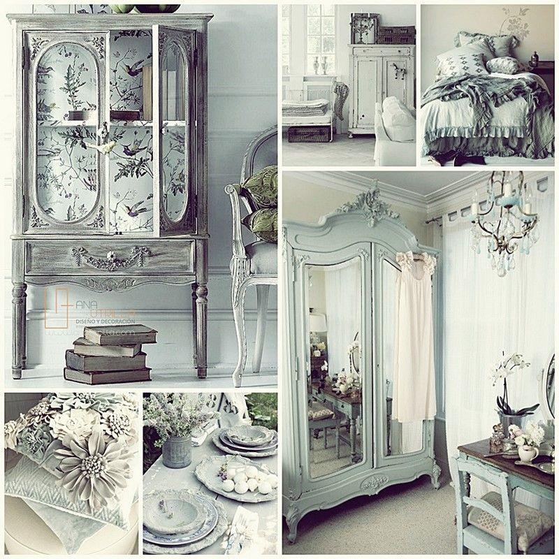 decorar con estilo shabby chic espacios como habitaciones principales o salones
