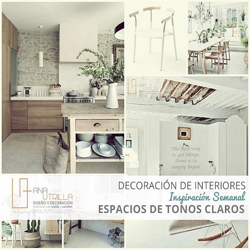 Decoración de interiores en tonos claros para tu casa o negocio por Ana Utrilla Diseño y decoración de interiores online