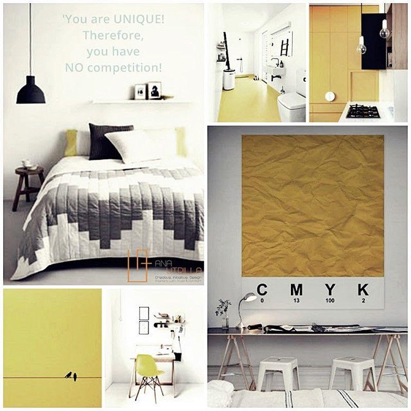 Interiores de color amarillo para energizar tu ambiente por Ana Utrilla Diseño de Interiores Online