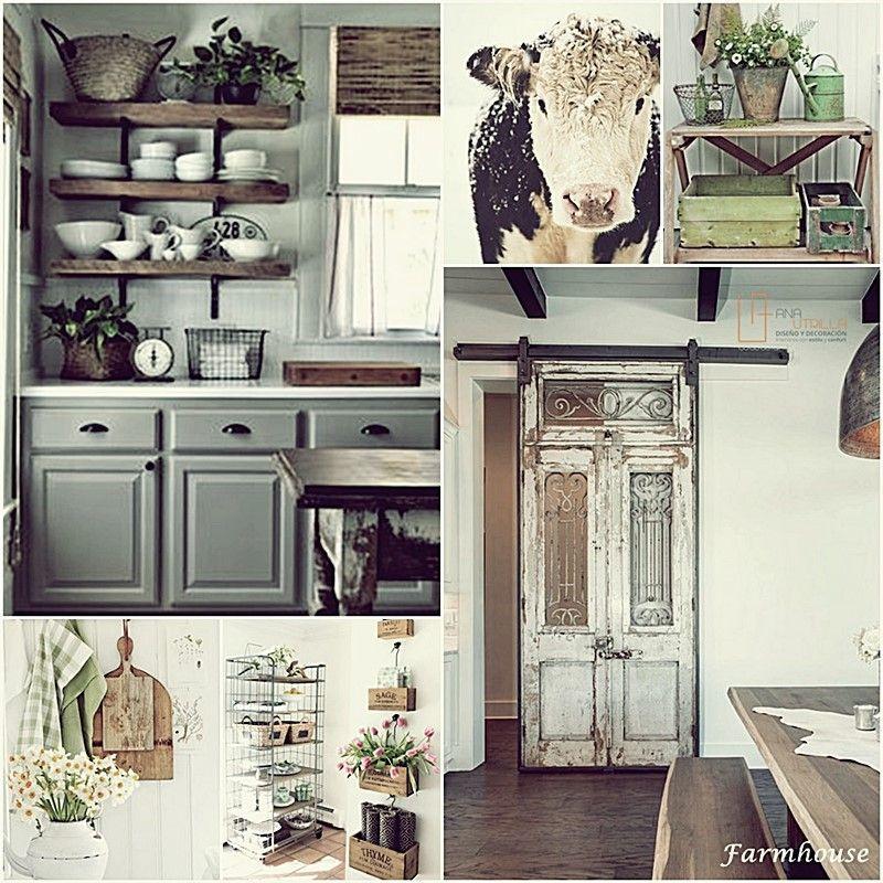 Decoración de interiores con estilo rústico farmhouse, como decorar tu espacio con estilo rústico