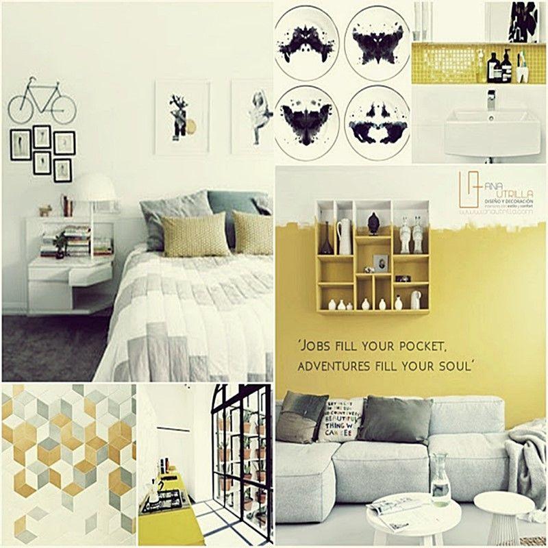 Utiliza el color en tu decoración de interiores como el amarillo por Ana Utrilla Diseño de interiores online