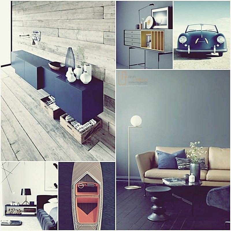 Decoración de interiores con color, azul petróleo por Ana Utrilla Moodboard