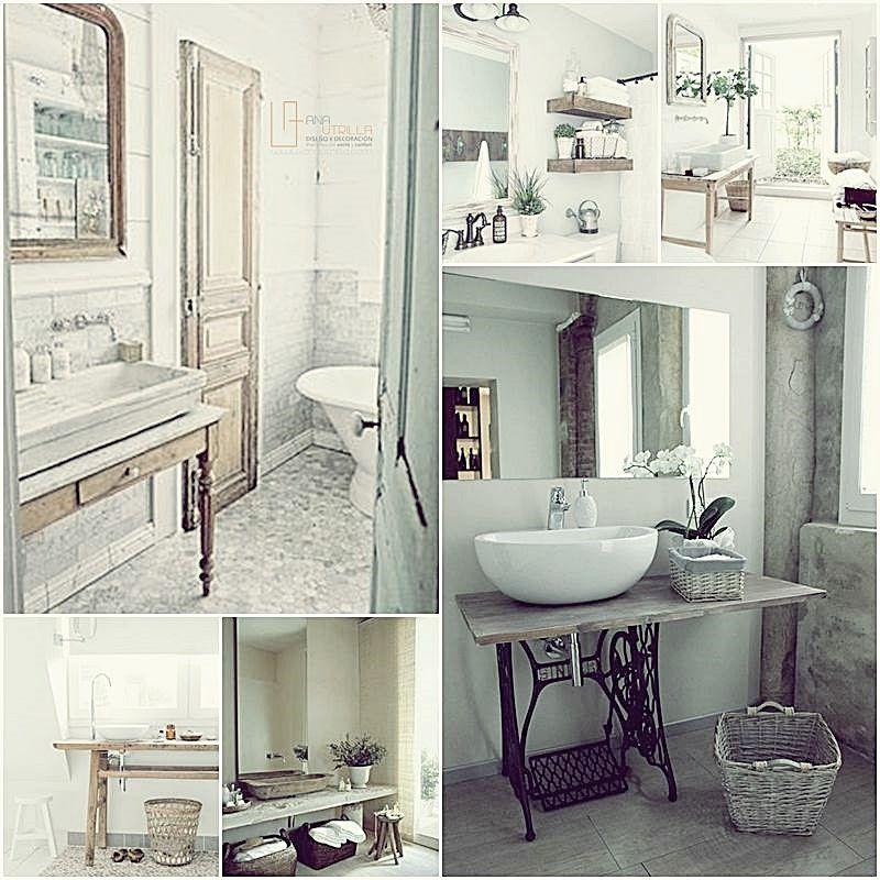 Ideas para decorar con estilo rústico tu baño y aseos por Ana Utrilla Valladolid