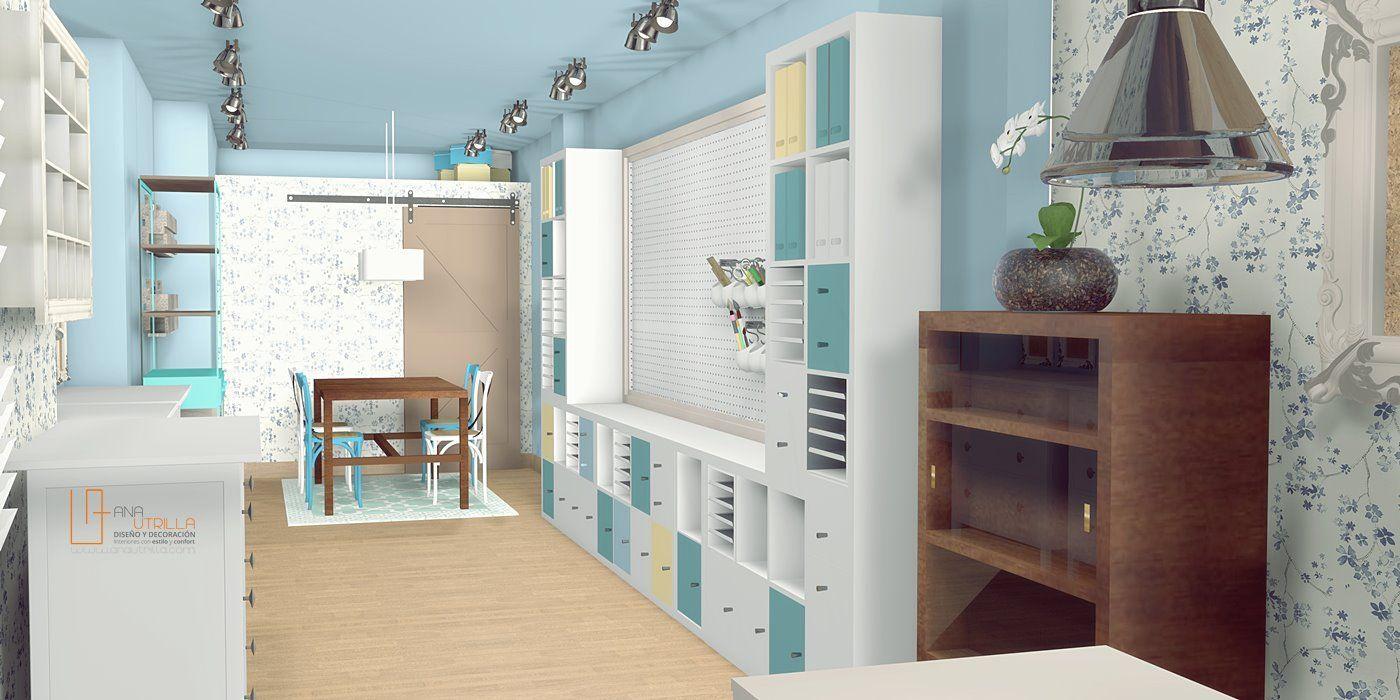 Diseño de interiores online con modelado de espacios en 3D por Ana Utrilla Local de scrapbooking