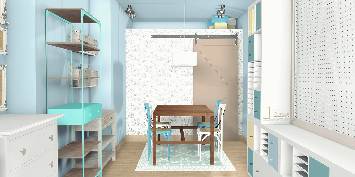 Diseño de tienda de scrapbooking por Ana Utrilla en Valladolid