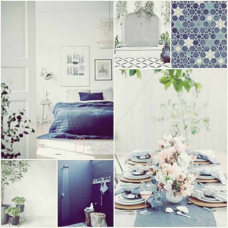Ambientes en azul índigo para el verano por Ana Utrilla