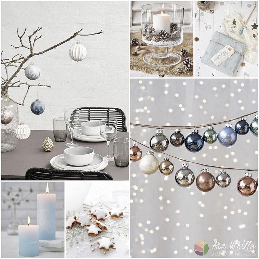 Frosted Christmas tendencia navidad 2017, decoración en tonos fríos y accesorios nevados