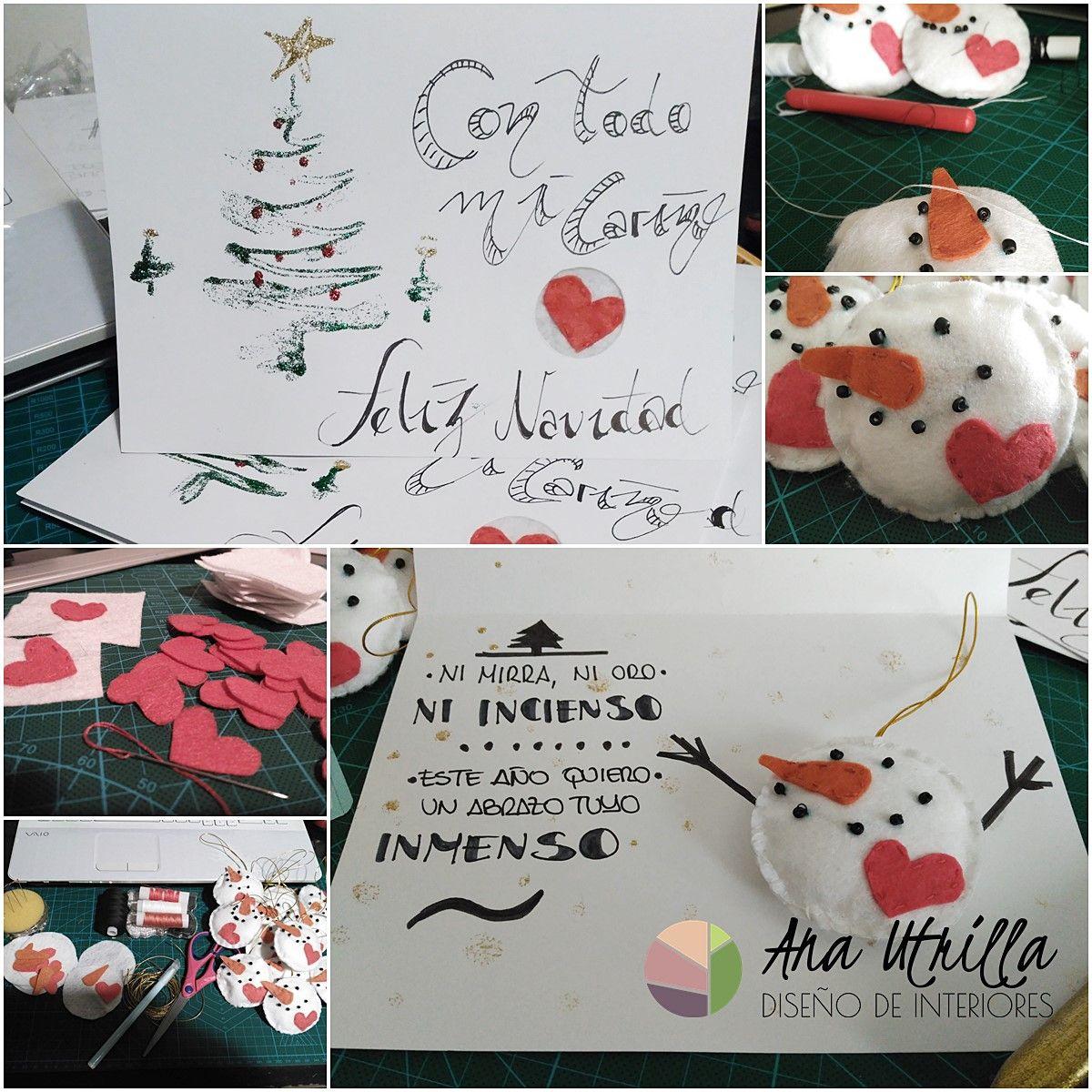 Felicitaciones de Navidad DIY. por Ana Utrilla Diseño de Interiores
