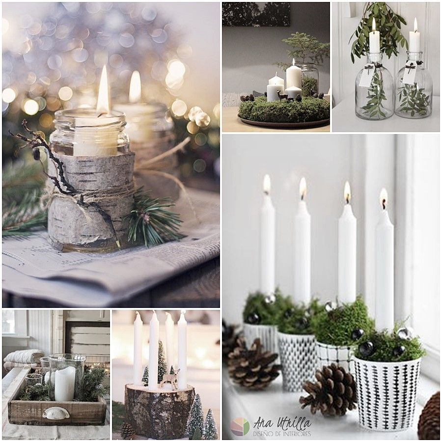 Coloca velas en cualquier espacio para aumentar la sensación de calidez estas navidades
