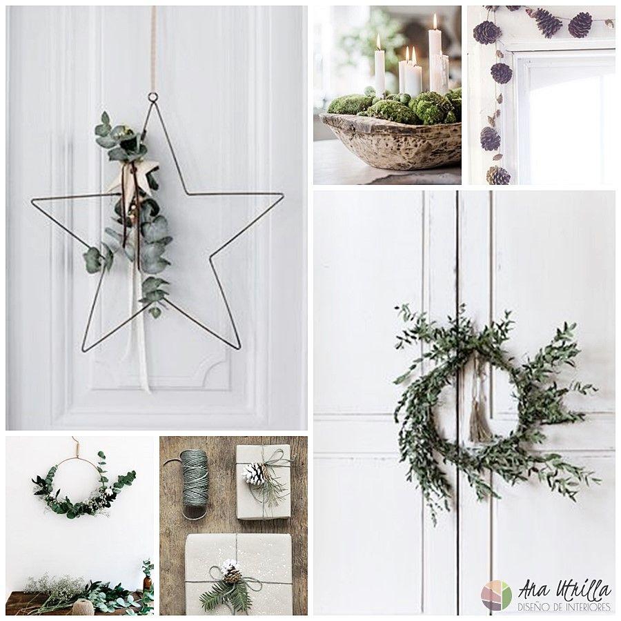 Adornos con elementos naturales para Navidad DIY