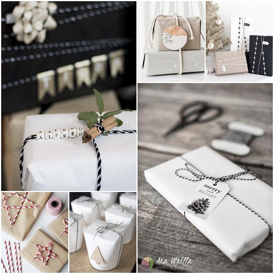 Ideas para envoltorios DIY de Navidad por Ana Utrilla