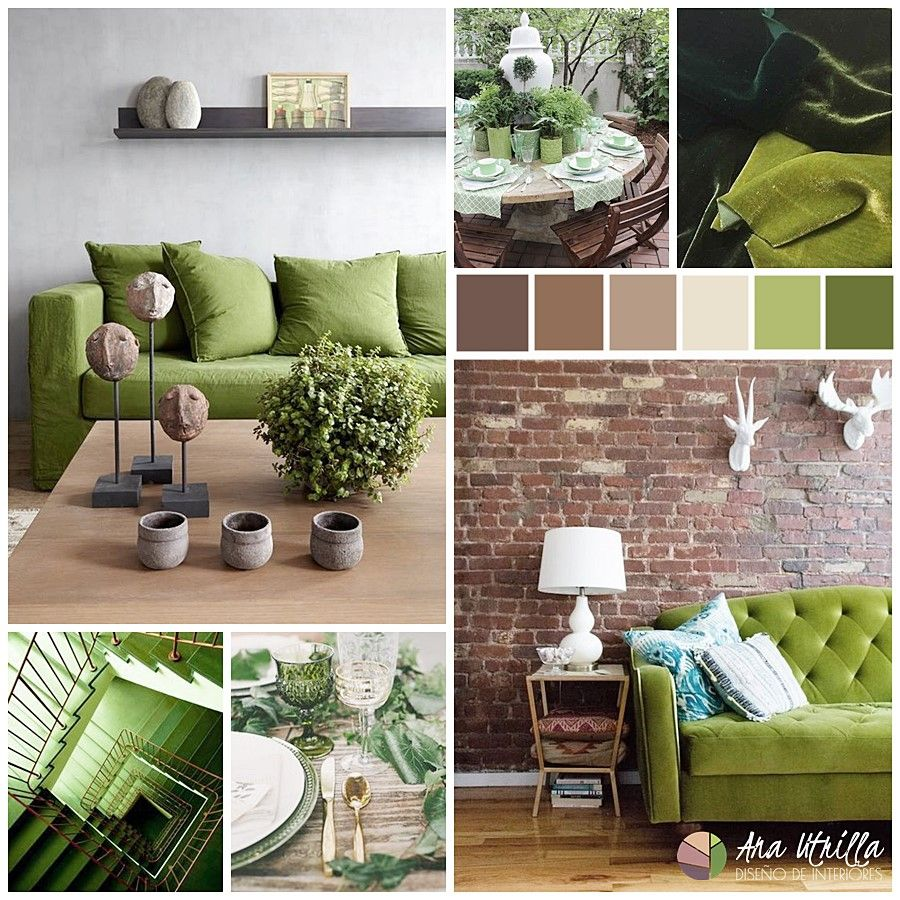 GREENERY EN TU DECORACIÓN, COLOR PANTONE 2017 por Ana Utrilla Interiorismo