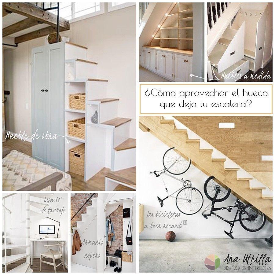 Aprovecha el espacio debajo de la escalera