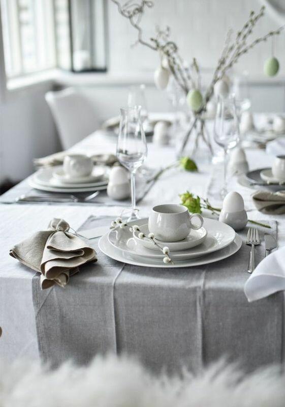 Decoración de mesa para Pascua, Semana Santa, 2020, en tonos neutros y estilo nórdico @utrillanais