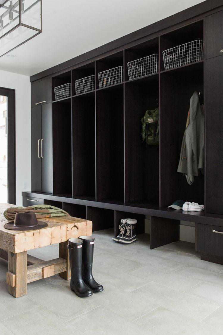 Locker negro para zona de entrada de estilo industrial chic