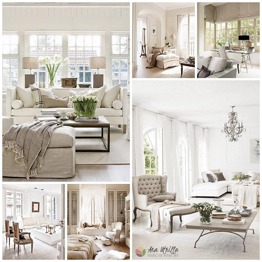 Decoración de interiores de estilo clásico renovado, estancias como salones, habitaciones, etc.
