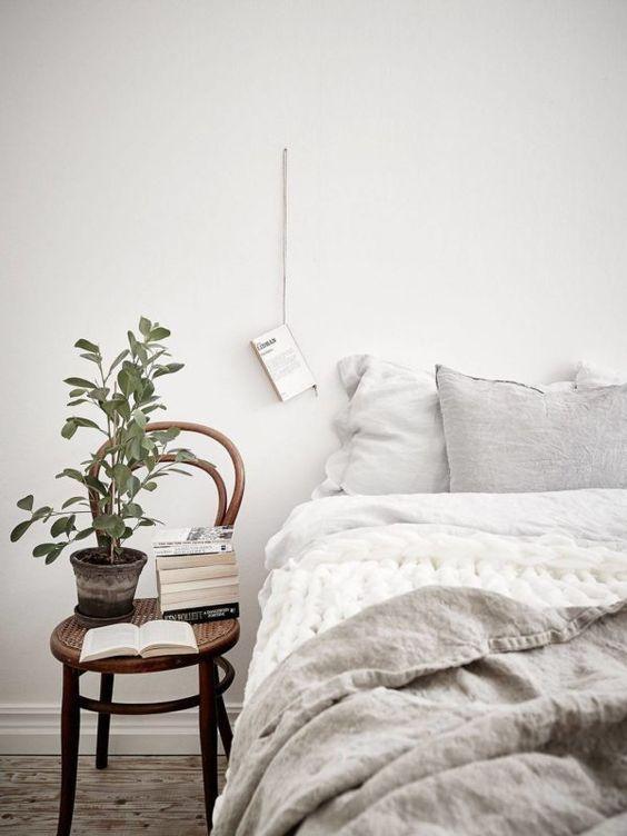 Decoración de interiores de espacios de estilo escandinavo Hygge para habitación