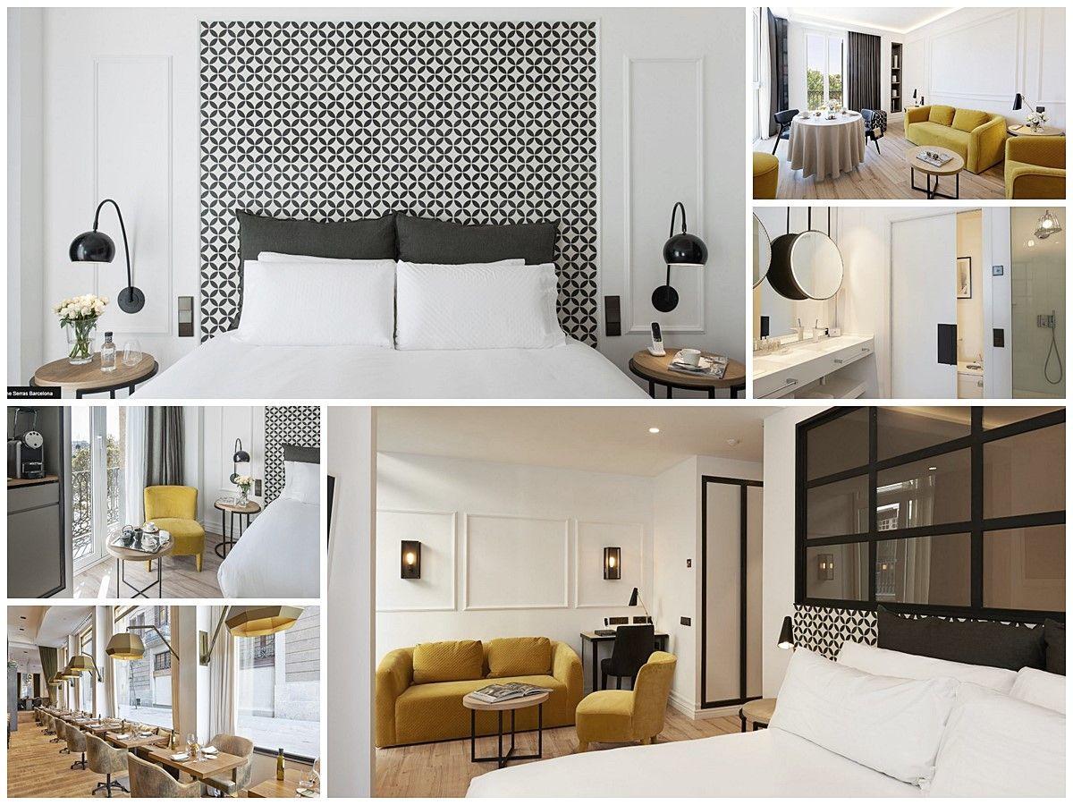 Hotel de Serras Barcelona, habitaciones interiorismo cuidado de estilo vintage chic