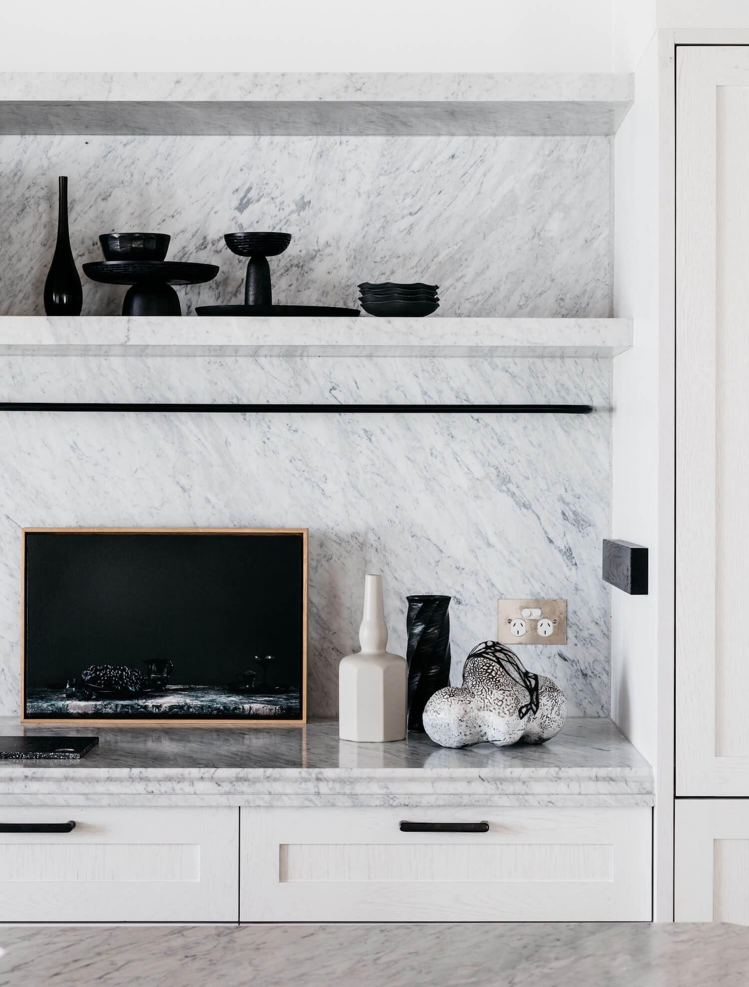 Decoración y diseño de interiores de salón de estilo francés minimalista
