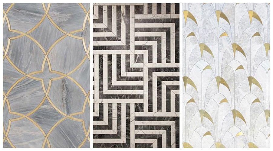 Pavimento y revestimiento de estilo Art Decó moderno, patrón art decó