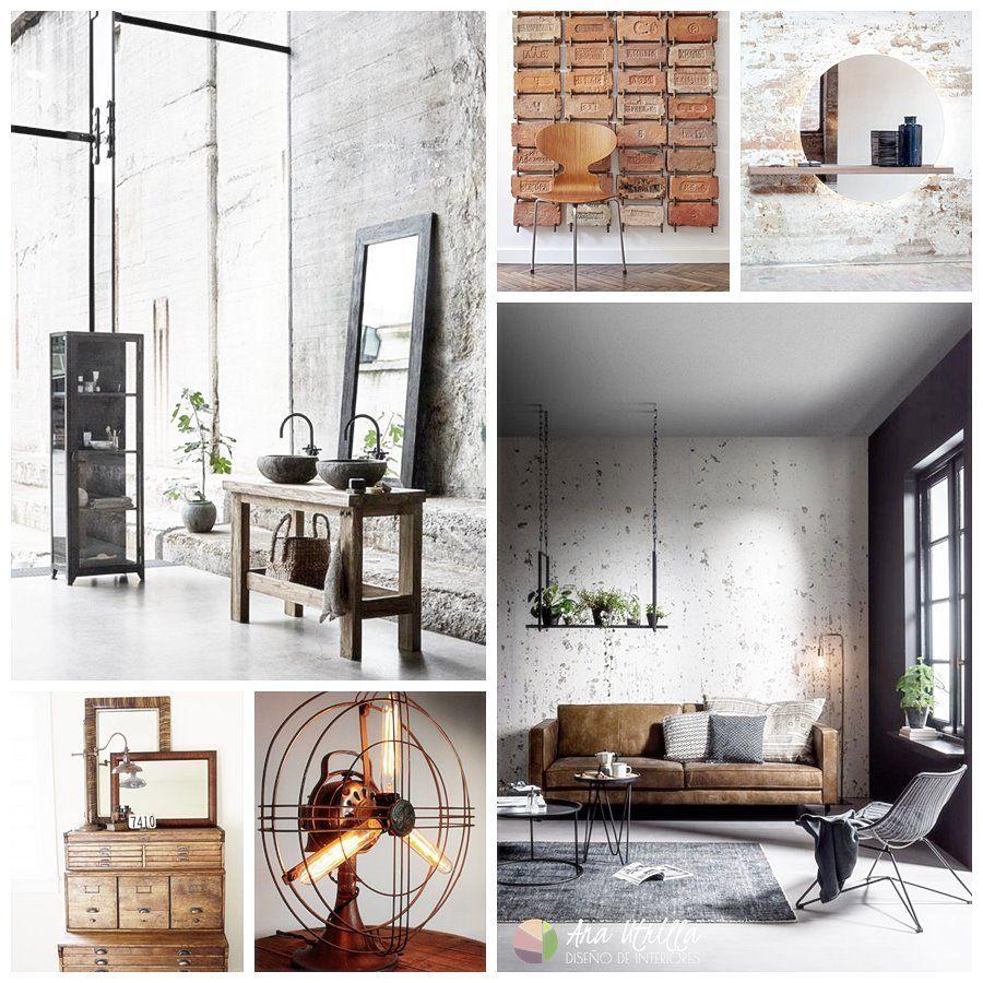 Decoración de interiores de estilo industrial para el baño o el salón
