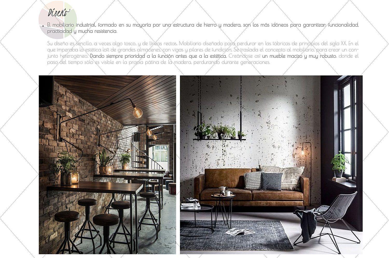 Diseño de accesorios y mobiliario característico del estilo industrial