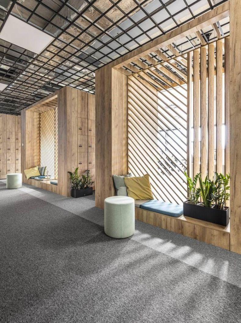 Zona de entrada y de descanso de oficinas