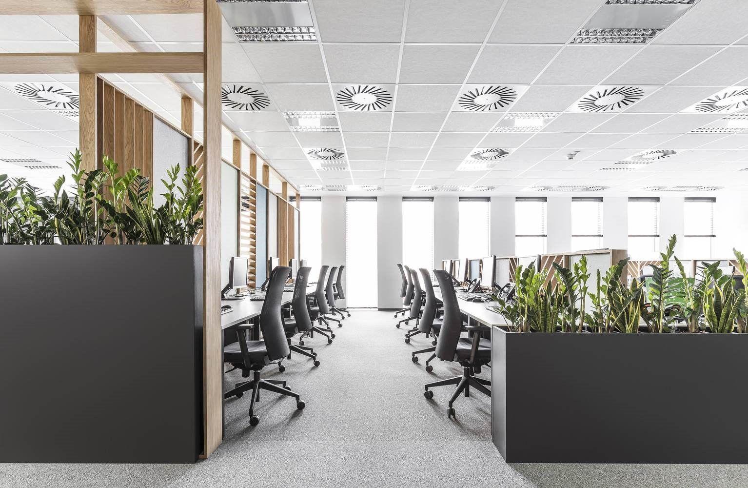 Oficinas en Polonia espacio abierto de puestos de trabajo en Call Center
