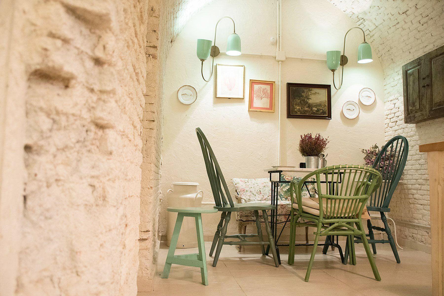 Resto Bar Le Cocó interiores de estilo vintage y shabby chic en Madrid
