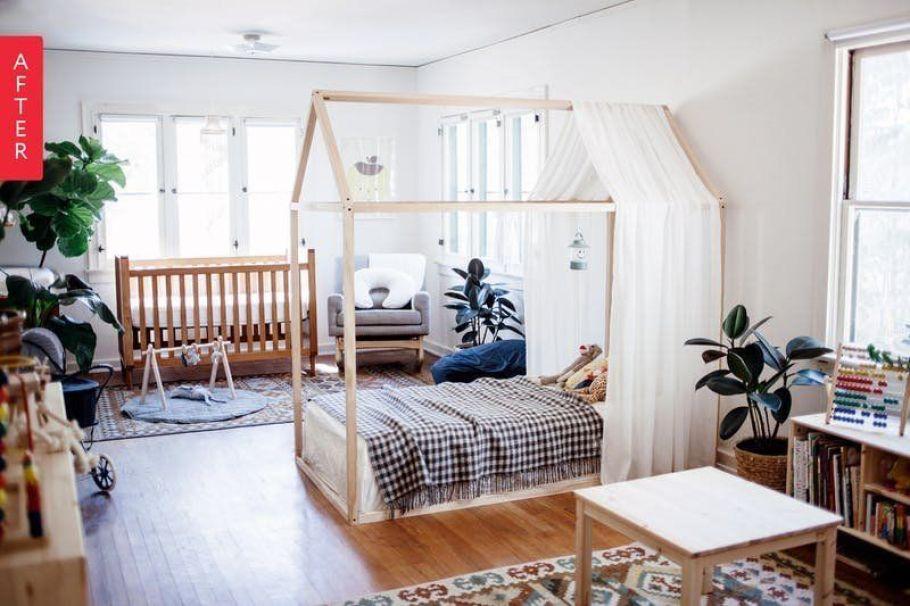 Habitación de estilo nórdico vintage decorada a través del método montessori