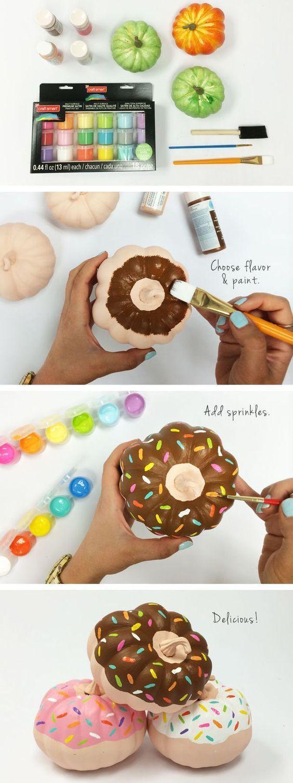 Decoración de calabazas, glaseado donut diy, para #Halloween @Utrillanais