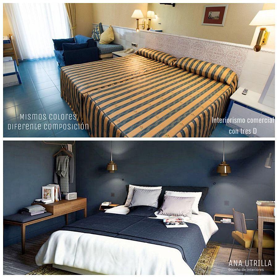 Porque se hace necesario utilizar el servicio de un interiorista para aplicar las tres D en el diseño de habitación de hotel @Utrillanais