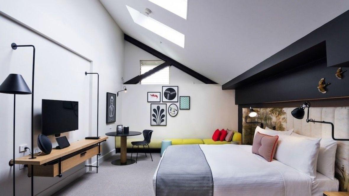 Interiorismo de hotel habitación OVOLO HOTELS WOOLLOOMOOLOO @Utrillanais
