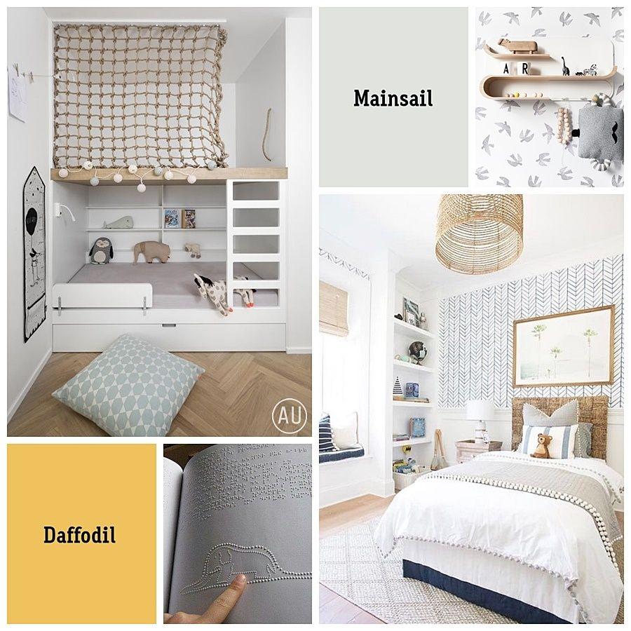 Moodboard e ideas para decorar una habitación infantil para niños y bebes invidentes @Utrillanais