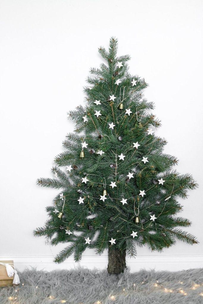 Árbol de Navidad Diy sobre pared, para ahorrar espacio @Utrillanais