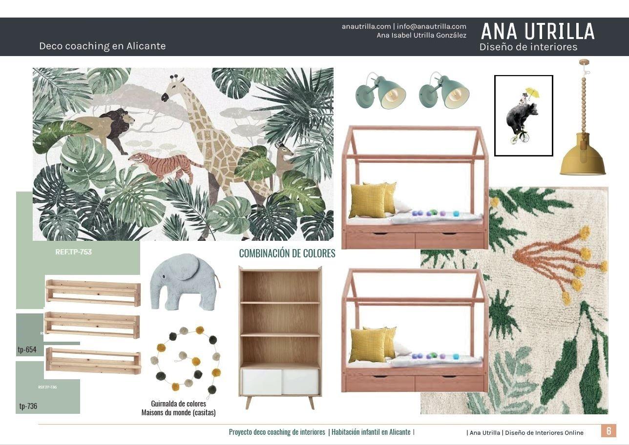 Moodboard de mobiliario infantil y estilo safari en Alicante #Anautrillainteriorismo #Slowinteriordesing #Kidsroom @Utrillanais