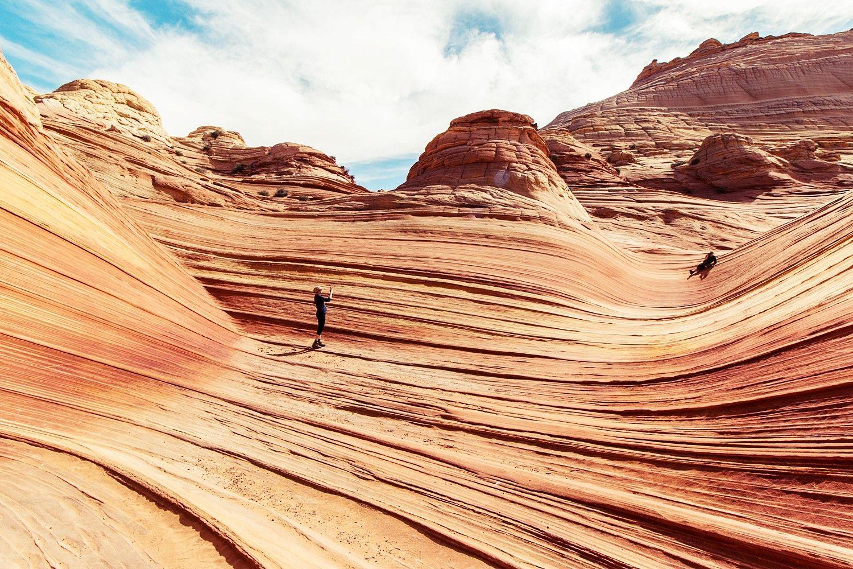 Desierto en tonos azules y anaranjados @Utrillanais