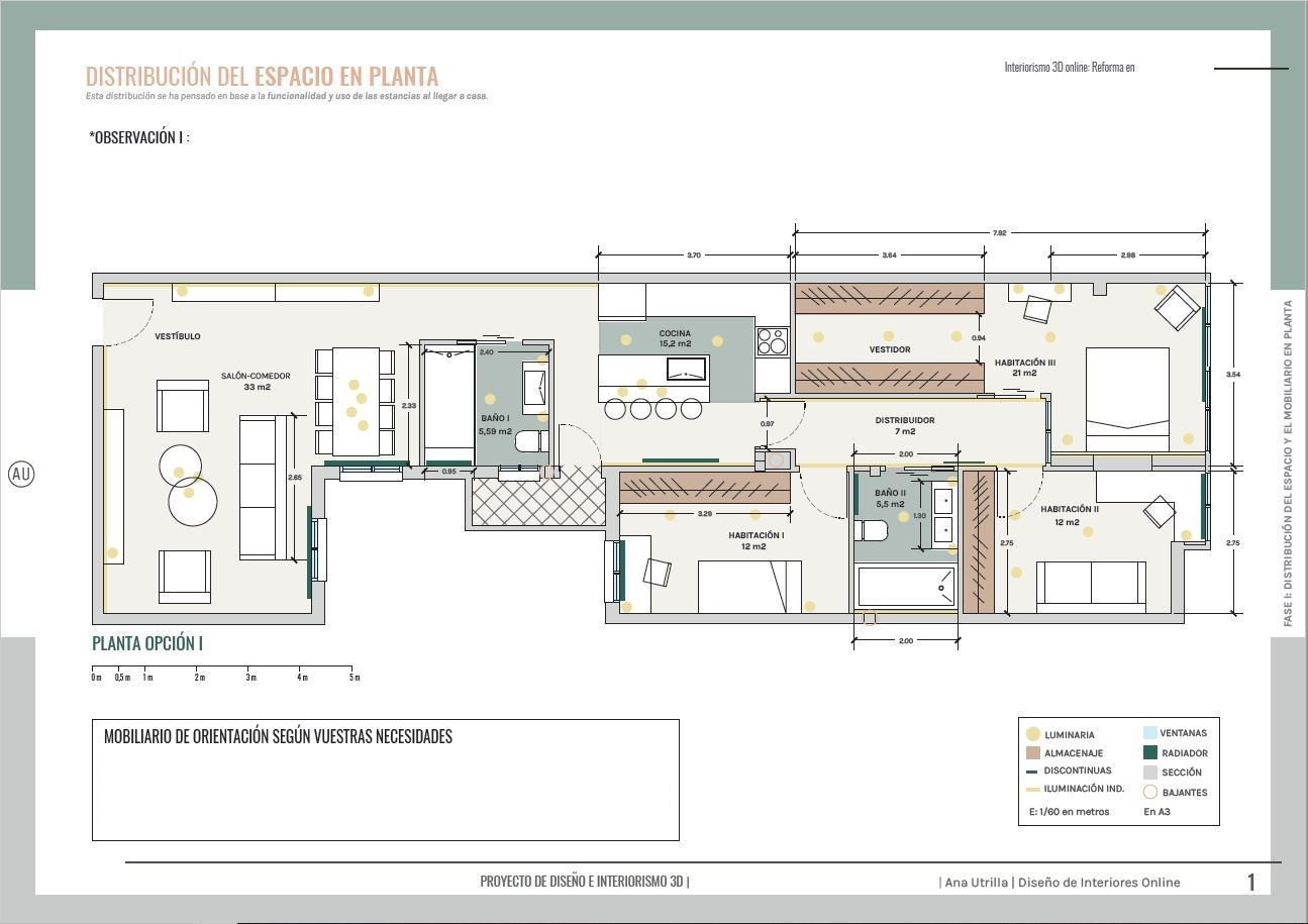 Proyecto #diseñodeinteriores residencial, obra integral en Valladolid, estilo Gentleman por Ana Utrilla @Utrillanais